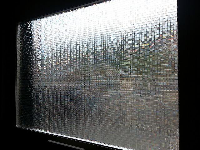 ウィンドウシートを貼った窓の画像